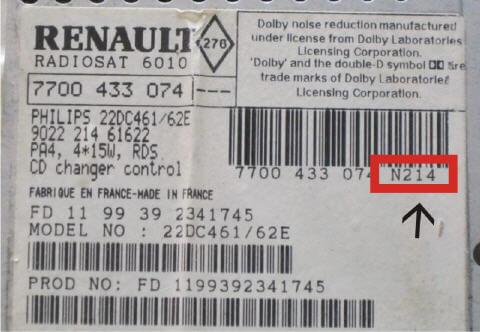Renault araç radyo kodu öğrenme